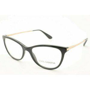 Dolce & Gabbana DG 3258 501 Black Gold Eyeglasses